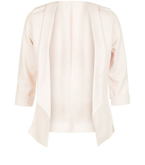 Parisian Shell Pink Cropped 3/4 Sleeve Blazer  | New Look