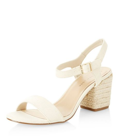 Wide Fit Cream Suedette Espadrille Heeled Sandals  | New Look