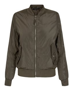 Khaki Padded Double Pocket Bomber Jacket | New Look