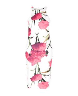 AX Paris White Floral Print Bodycon Dress | New Look