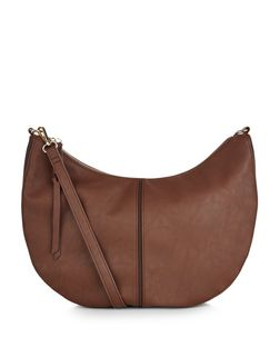 Tan Scoop Shoulder Bag  | New Look