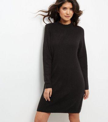 JDY Black Funnel Neck Dress