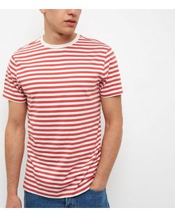 Red Stripe Short Sleeve T-shirt | New Look