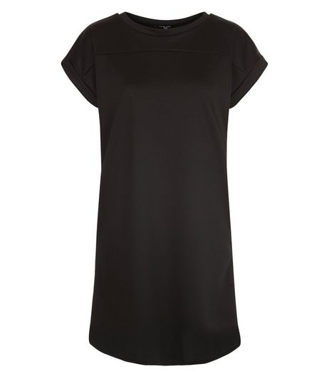 Tall Black Cap Sleeve Tunic Dress | New Look
