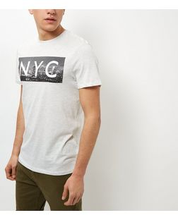 Cream NYC Print Short Sleeve T-Shirt | New Look