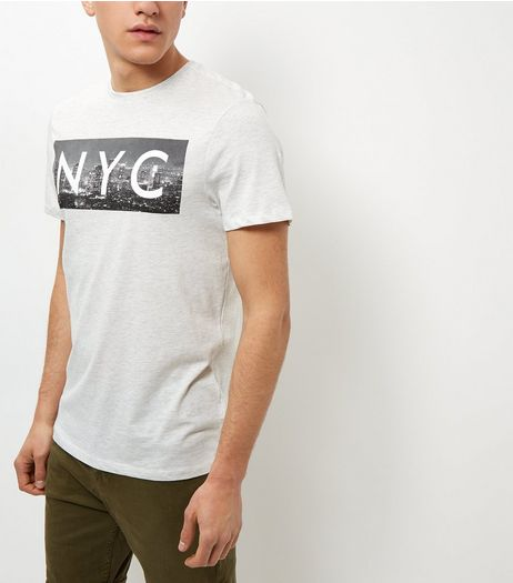 Cream NYC Print T-Shirt | New Look