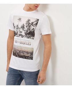 White Los Angeles City T-Shirt  | New Look