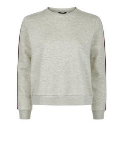 Teens Grey Tape Trim Sweater | New Look