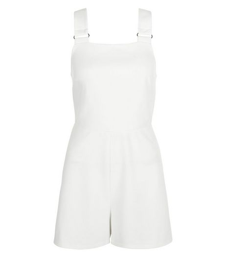 White Pinafore Playsuit | New Look