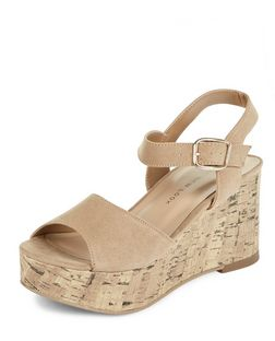 Teens Cream Flatform Sandals | New Look