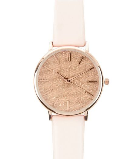 Pink Glitter Watch | New Look