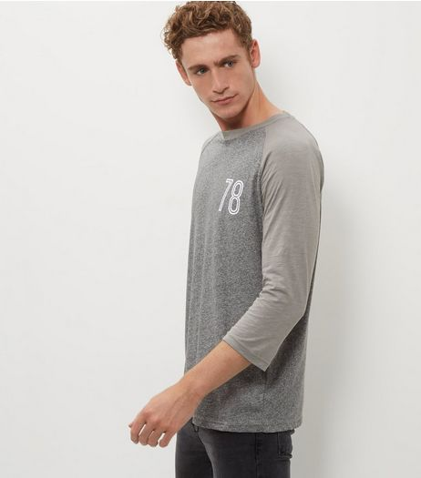 Grey 78 Raglan Top | New Look