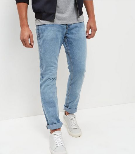 Blue Light Wash Slim Fit Jeans | New Look