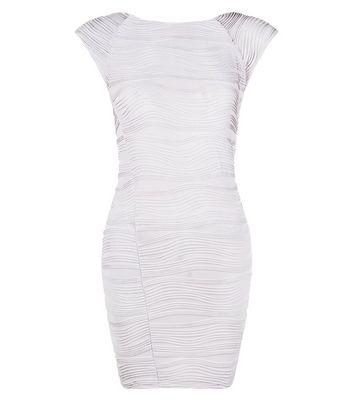 AX Paris Silver Textured Bodycon Dress
