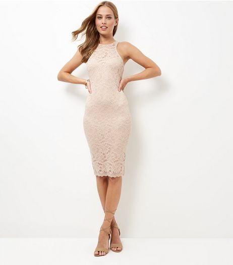 AX Paris Cream Lace Midi Dress | New Look