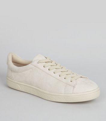 Cream Suedette Trainers | New Look