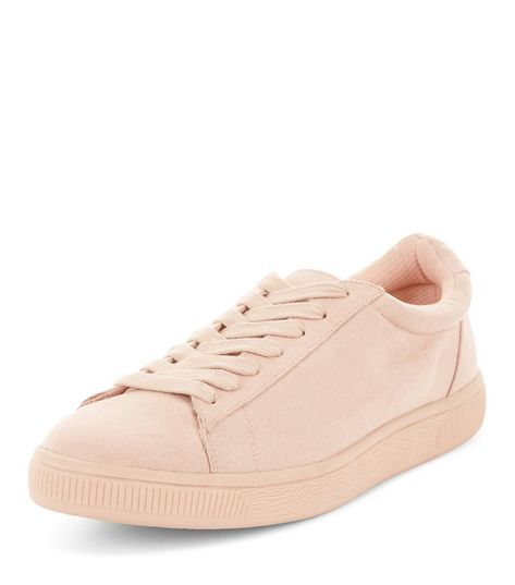 Pink Suedette Trainers  | New Look