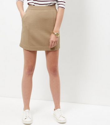 Camel Textured Skirt
