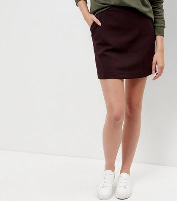 Burgundy Textured Skirt