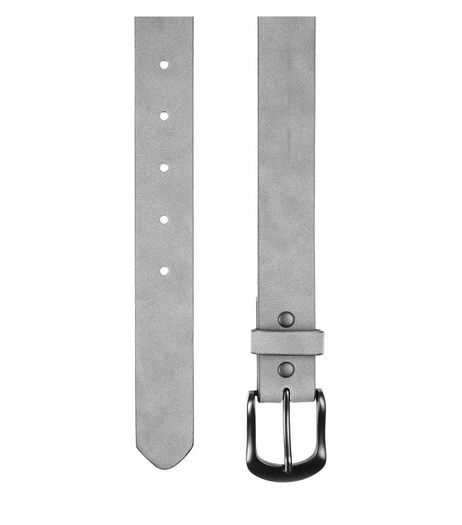 Grey Faux Nubuck Belt  | New Look