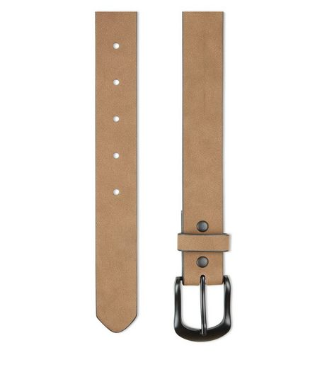 Tan Faux Nubuck Belt  | New Look
