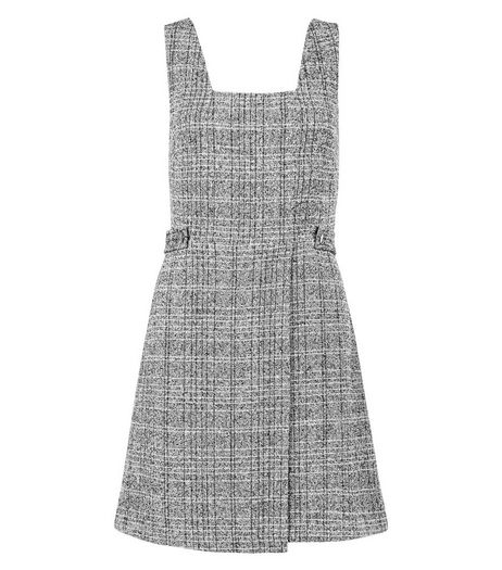 Grey Flecked Pinafore Dress  | New Look