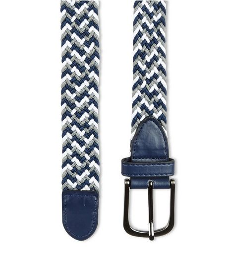 Blue Braid Elasticated Belt  | New Look