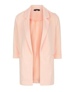 Teens Shell Pink Boyfriend Blazer | New Look
