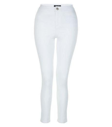 Teens White High Waist Super Skinny Jeans | New Look