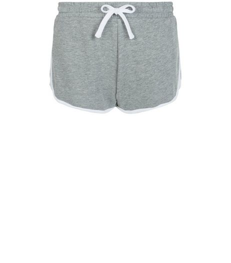 Grey Contrast Trim Runner Shorts | New Look