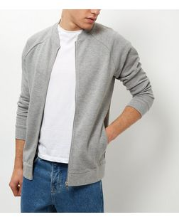 Jack and Jones Grey Zip Up Sweater | New Look