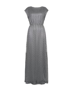 Mela Silver Lace Maxi Dress | New Look