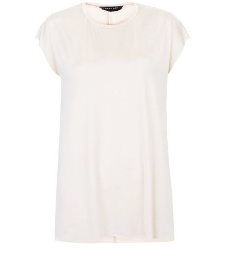 Shell Pink Split Side Oversized T-Shirt  | New Look