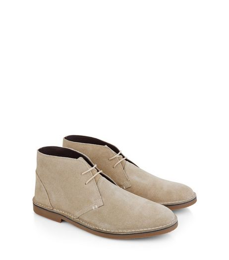 Stone Suede Desert Boots | New Look
