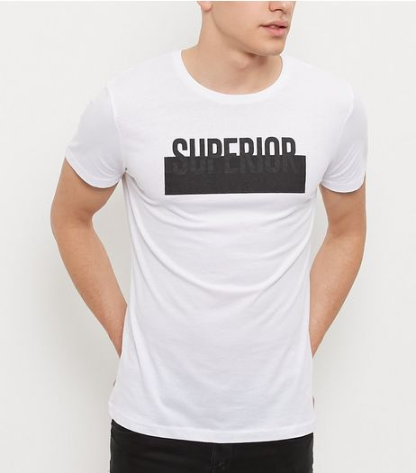 White Slogan Print T-Shirt | New Look