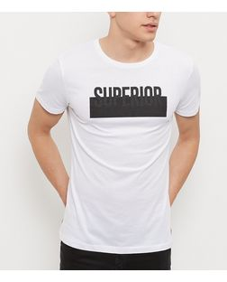 White Superior Print Short Sleeve T-Shirt | New Look