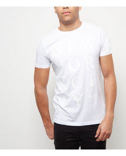 White New York City T-Shirt | New Look