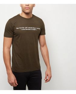 Khaki Lafayette New York T-Shirt | New Look