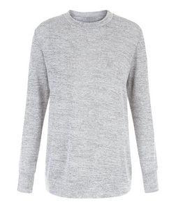 Cameo Rose Grey Space Dye Fine Knit Jumper | New Look