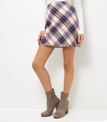 Gonna  donna Blue Check Mini Skirt