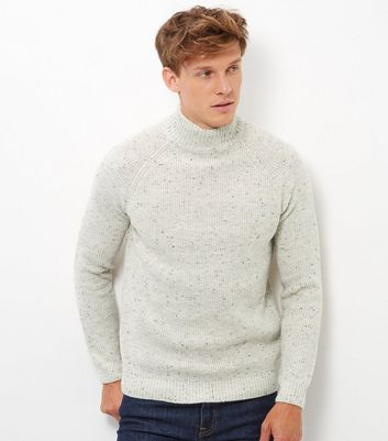Cream Funnel Neck Jumper