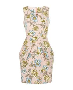 Mela Pink Floral Print Tulip Dress | New Look