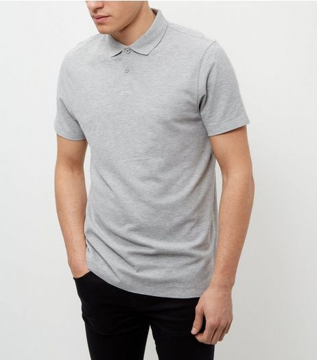 Grey Basic Polo Shirt | New Look
