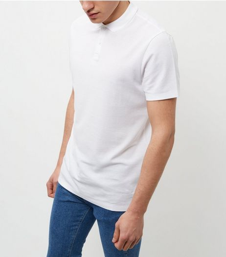 White Basic Polo Shirt | New Look