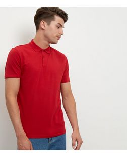 Red Cotton Polo Shirt  | New Look