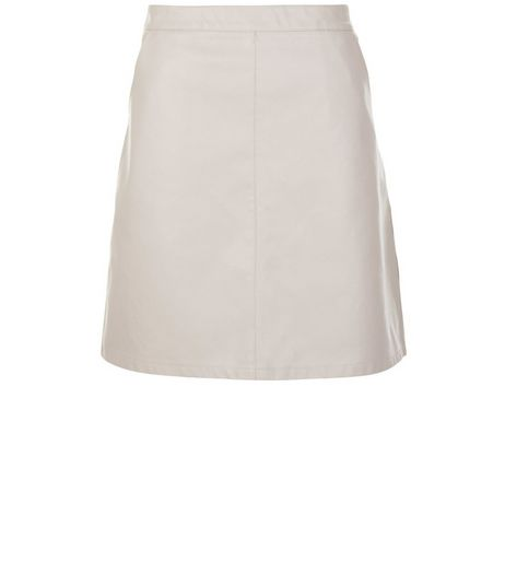 Anita and Green Shell Pink Leather-Look Skirt  | New Look