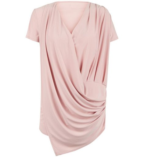 Anita and Green Pink Wrap Short Sleeve Blouse | New Look