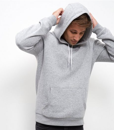 Grey Fleece Hoodie  | New Look
