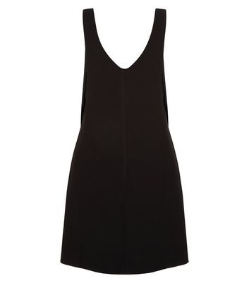 petite-black-textured-pinafore-dress