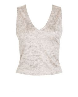 Pink Textured Vest  | New Look